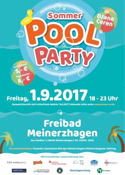 Pool-Party im Freibad Meinerzhagen am 01. September