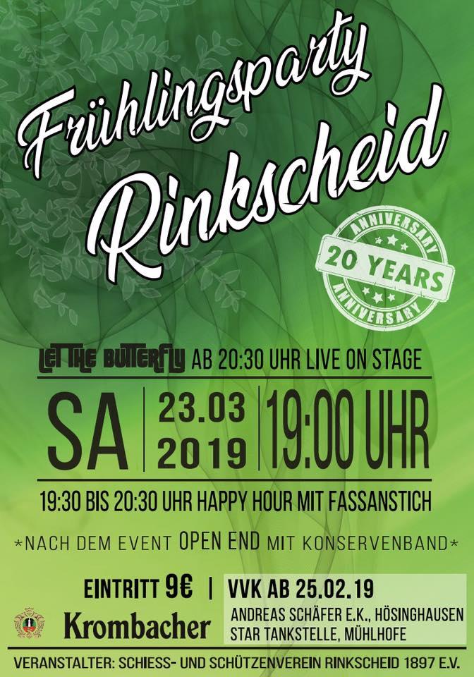 Plakat Frühlingsparty