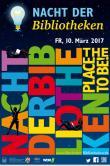 Plakat der Nacht der Bibliotheken 2017