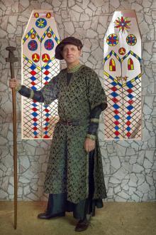 Foto eines Stadtführers im historischen Gewand