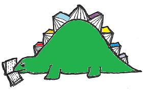 ein Büchersaurier