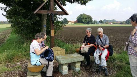 Rast auf Pilgerwanderung Soest-Werl