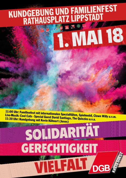 Plakat zum 1. Mai in Lippstadt