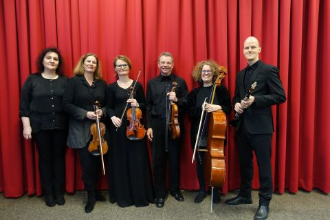 Quartetto D'Archi Bielefeld mit Djamilja Keberlinskaja-Wehmeyer und Jens Ubbelohde