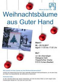 Weihnachtsbaumverkauf Stiftung Die Gute Hand