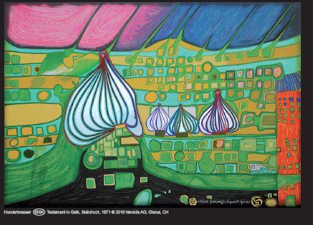 Hundertwasser - Testament in Gelb