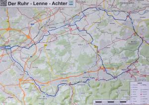 Streckenführung des Ruhr-Lenne-Achters; Foto: Bernhard Schomm