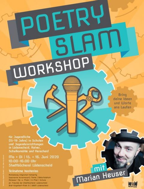 Plakat Workshop Poetry Slam