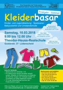 der Kleiderbasar ist eine Kooperation der Fördervereine Grundschule Kalve und Theodor-Heuss-Realschule