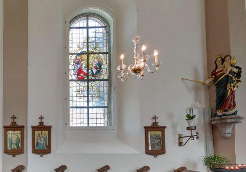 Barockkirche Fensterbild