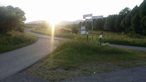 Wegkreuzung Klosterweg